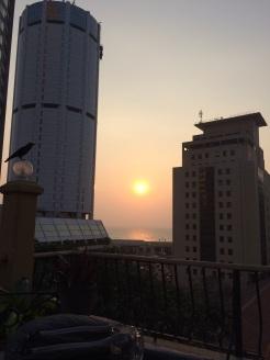 Coucher de soleil à Colombo