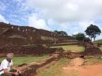 Ruines sur le Rocher à Sigiriya