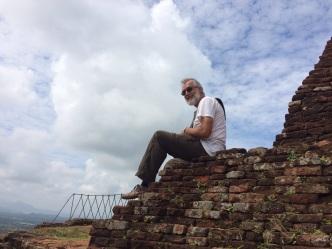 Robert au sommet du Rocher à Sigiriya