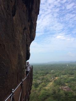 Passerelle du rocher à Sigiriya