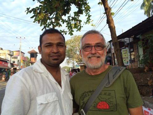 Robert avec le propriétaire du Mansala Safari Lodge