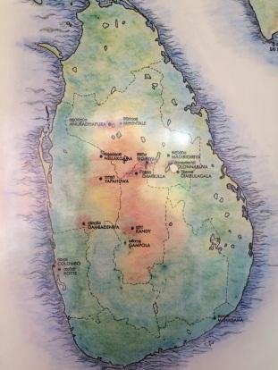 Carte du Triangle culturel