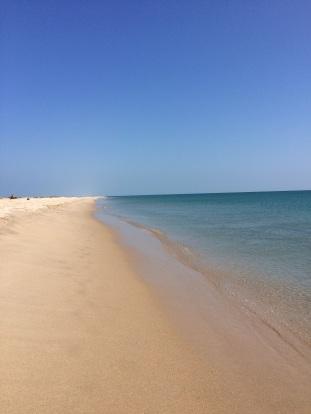 Sur le sable en allant à Dhanushkodi
