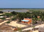 Village vu du temple Gangha Madhana Parvatham