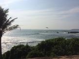 Coucher de soleil sur la mer à Galle, Sri Lanka