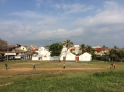 Jeu de cricket à Galle, Sri Lanka