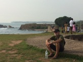 Pause devant la mer, Galle au Sri Lanka