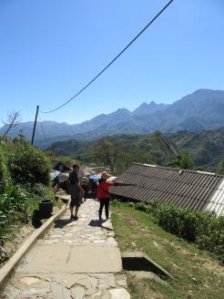Sur la route du village Hmong, Sapa, Vietnam