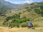 Marche dans la montagne, près de Sapa