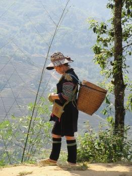 Femme Hmong qui a fait la route avec nous.