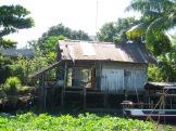 Maison sur pilotis, région de An Binh, Vietnam