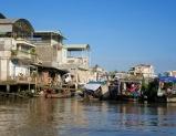 La vie sur un bateau, Cái Be, Vietnam