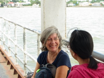 Une belle rencontre, ferry Vinh Long-An Binh, Vietnam