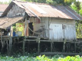 Maison sur pilotis région de An Binh, Vietnam