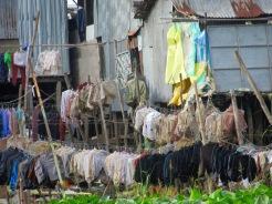Lavoir en bordure du Mékong, Chau Doc, Vietnam