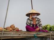 Marché flottant, Chau Doc, Vietnam