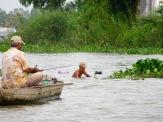 Pêche sur le Mékong, Chau Doc, Vietnam