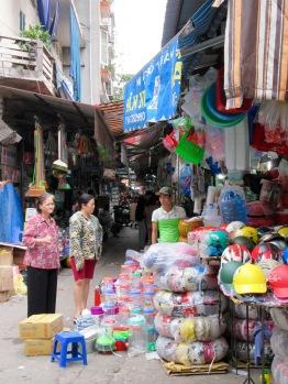 Magasinage dans le vieux quartier, Hanoï, Vietnam