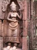 Apsara, déesse dansante, Ta Som, Angkor, Cambodge