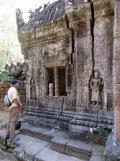 Ta Som, sculptures et apsara, Angkor, Cambodge