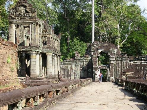 Cour intérieure à Preah Khan, Angkor, Cambodge