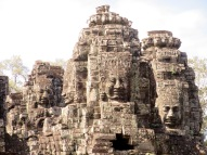 Tours avec quatre visages, le Bayon, Angkor, Cambodge,