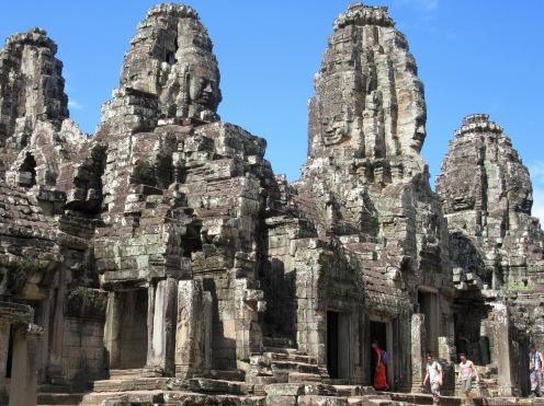 Tours à quatre visages, le Bayon, Angkor, Cambodge