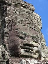 Visage d'une des tours de le Bayon, Angkor, Cambodge