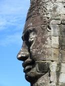 Visage d'une tour au temple Bayon, Angkor, Cambodge