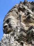Visage de Bayon, imaginez la vue à partir de la jungle! Angkor, Cambodgee