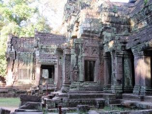 Entrée de Ta Phrom, Angkor, Cambodge