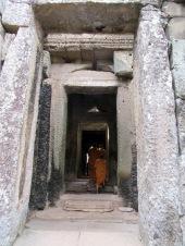 Entrée vers le temple de Ta Phrom, Angkor, Cambodge