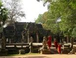 Arrivée à Ta Phrom, Angkor, Cambodge