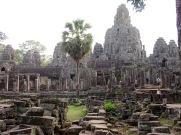 Mystérieux Bayon en fin de journée, Angkor, Cambodge