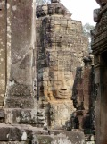 Un des visages de Bayon, Angkor, Cambodge