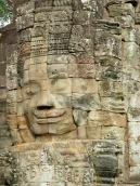 Un des sourires de Bayon, Angkor, Cambodge