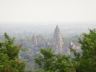 Angkor Wat en fin d'après-midi vu du Phnom Bakhèng, Cambodge