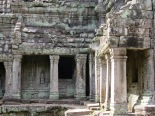 Galerie couverte à Preah Khan, Angkor, Cambodge
