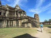 Entrėe de l'immense Angkor Wat, Cambodge