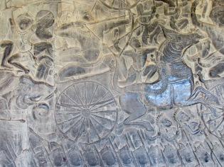 Bas-relief, Angkor Wat, Cambodge