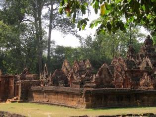 Entrée de Bantaey Srei, Angkor, Cambodge