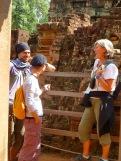 Une belle rencontre à Banteqy Srei. Nous garderons le contact, Angkor, Cambodge