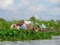Quand le bateau sert de maison, Tonlé Sap, Cambodge