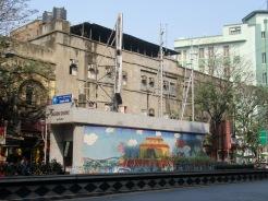 Entrée de métro dans le quartier de Chandi Chowk, Kolkata, Inde