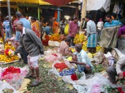 Marché aux fleurs, Kolkata, Inde