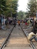 Photo de Robert: un bidonville le long de la voie ferrée, Kolkata, Inde