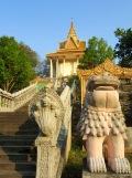Dernier escalier avant d'arriver au temple,