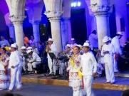 Lors des prestations de danse à Mérida, les danseurs portent des vêtements traditionnels, Yucatán.