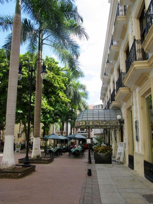 L'entrée du Gran Hotel, Mérida, Yucatán, Mexique.