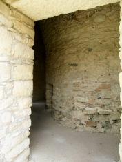 Les murs à l'intérieur de l'observatoire de Mayapan épousent, eux aussi, une forme circulaire, Yucatán, Mexique.